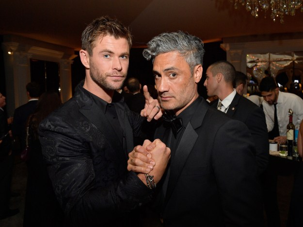Chris Hemsworth hung out with the director of Thor, Taika Waititi.