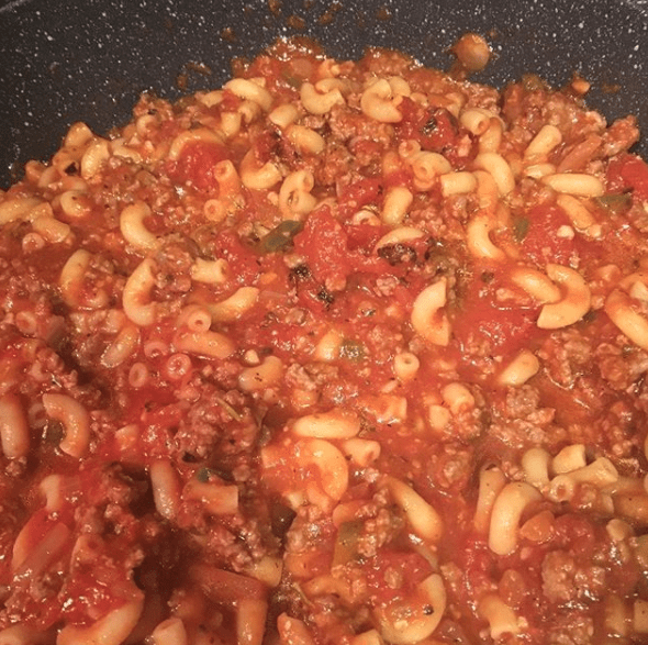 Goulash (or what I used to call cafeteria slop).