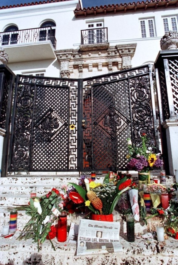 A day after the killing, flowers and candles filled the steps...