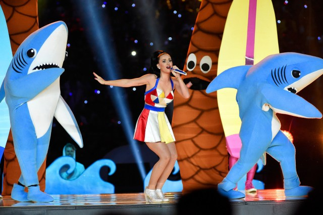 Feb. 1, 2015 — Katy Perry at Super Bowl XLIX in Glendale, Arizona