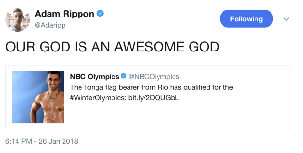 On supporting fellow Olympians: