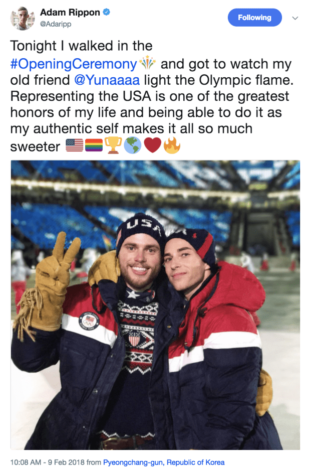 ...AND being proud to be an LGBT Olympian:
