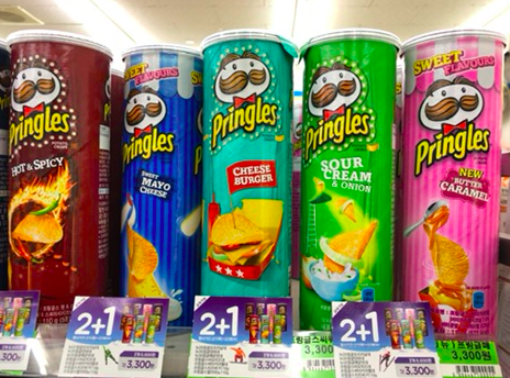A wider variety of Pringles flavors.