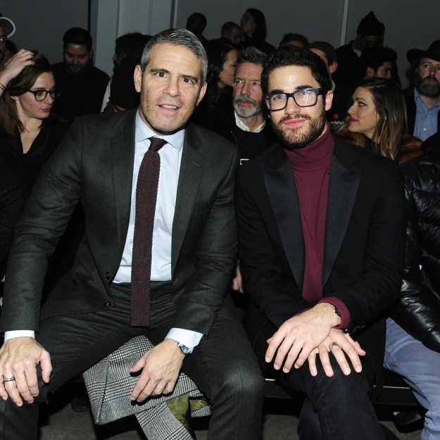 2018: Andy Cohen and Darren Criss.