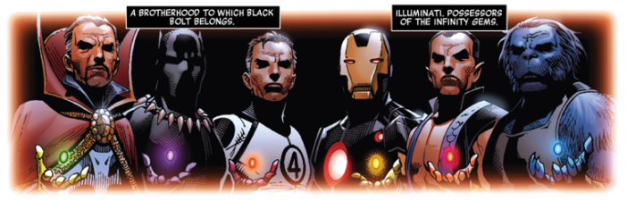 In addition to being the king of Wakanda and an Avenger, the character of T'Challa plays a major role in the comics. At some point, he was part of the Illuminati (a group of heroes who make all the important decisions pertaining to the Earth) and eventually had custody over one of the Infinity Gems.