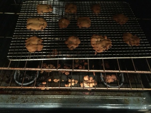 This husband who baked cookies...on a cooling rack.