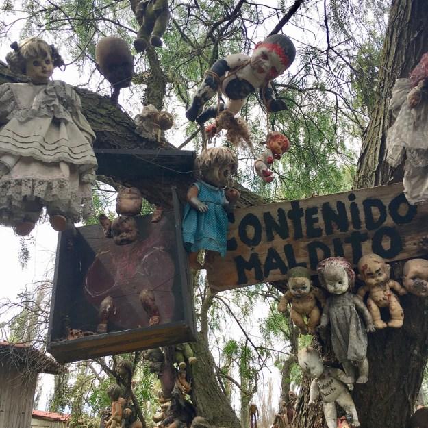 The creepily self-explanatory Island of the Dolls: