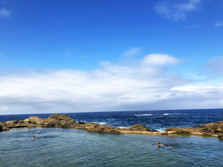 This ocean pool is a pretty big one, and its location set amongst the rocky cliffs of Bermagui is near unbeatable. It's not the warmest pool I've ever swum in, but lying on the rocks in the sun afterward made it all worthwhile.