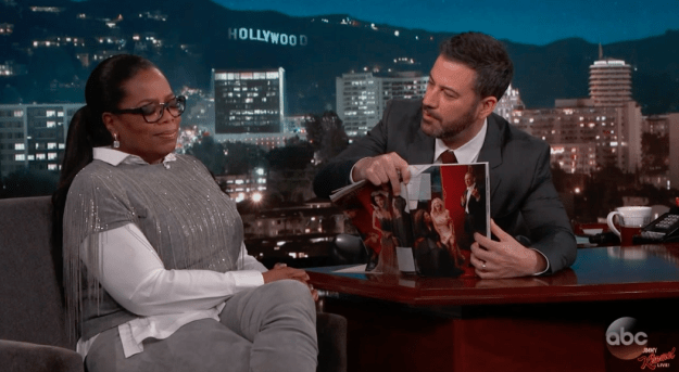 So now you're up to speed, that brings us to the present day, and Oprah, who appeared on Jimmy Kimmel Live, just spoke about the whole situation.