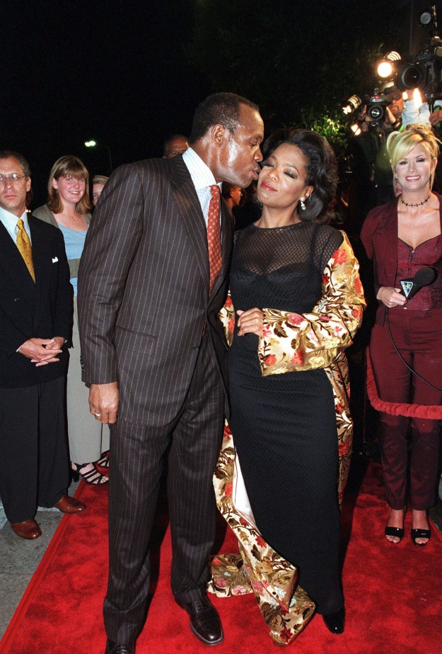 Danny Glover and Oprah Winfrey at the Beloved premiere: