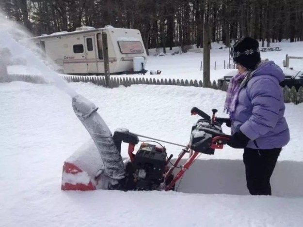 Technically a snowblower, not an ejaculating penis.