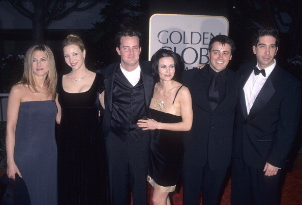 The cast of Friends at the Golden Globes:
