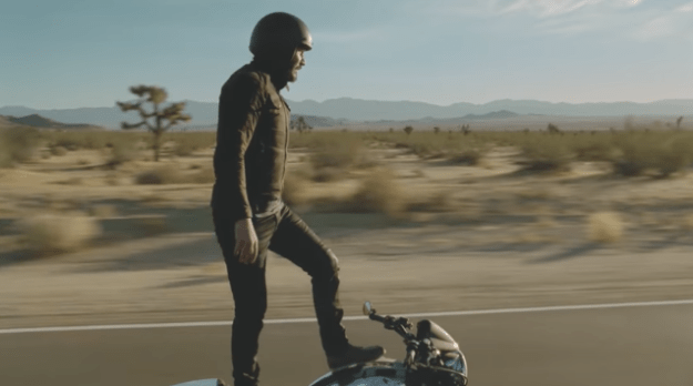 Keanu Reeves starred in a Squarespace commercial, where he kinda just stood on a bike: