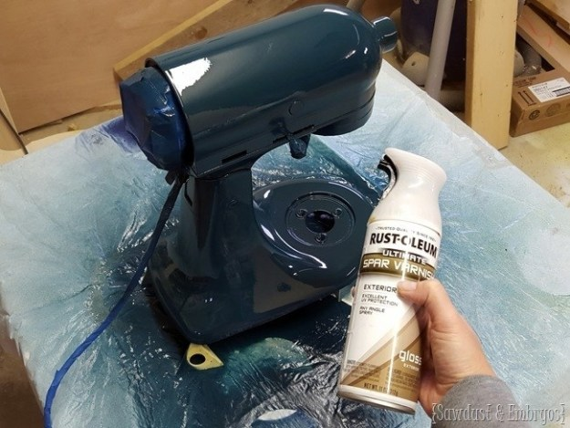 Personalize your KitchenAid mixer by painting it.