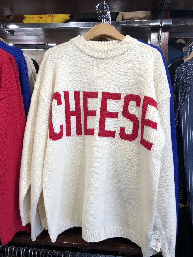 Like seriously, so many CHEESE shirts.