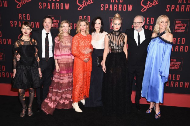 Jennifer Lawrence's new film Red Sparrow premiered in New York City on Monday...