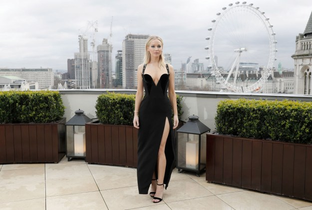 But the press tour hasn't come without controversy, particularly when Jennifer wore a Versace dress to a photo call in London.