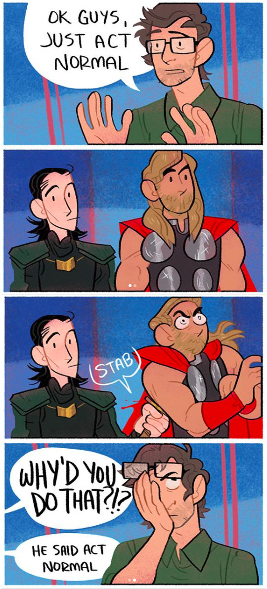 "Pierce told BuzzFeed that the ""sibling bond"" between Thor and Loki is what makes them such prime subjects for comics."