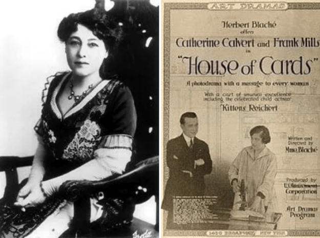 In 1896, Alice Guy-Blaché became the first woman to direct a movie. She went on to make more than 1,000 movies in her lifetime.