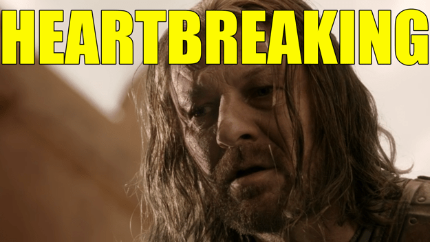 So, there you have it folks. Ned Stark was saying a little prayer.