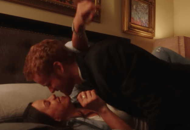 We have Harry and Meghan kissing in bed!