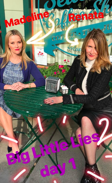 Reese even posted it AGAIN on her Insta story in case you possibly forgot which one was Madeline and which one was Renata! Just follow the arrows: