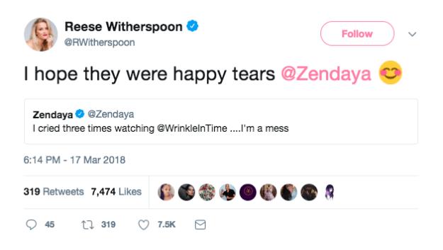 When she needed to make sure Zendaya wasn't sad: