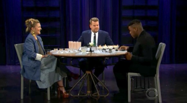 While playing the game Spill Your Guts or Fill Your Guts with guests Drew Barrymore and John Boyega, James was asked if he'd ever stolen anything, and if so, from where.