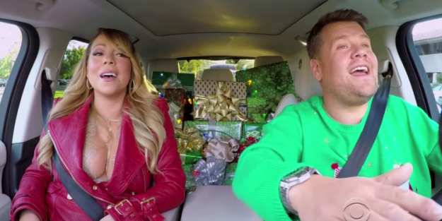 So the story goes that James went to Mariah's house to film a Christmas special of Carpool Karaoke. Although they were supposed to film at 3pm, Mariah's team foresaw that she might be a little late and advised James to get there at 4pm.