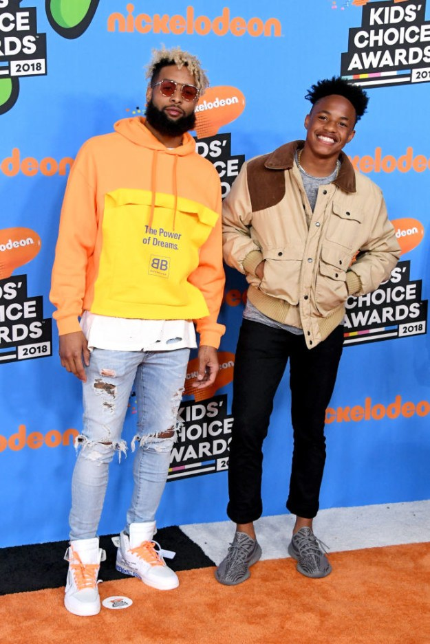 Odell Beckham, Jr. and Jaylin Smith