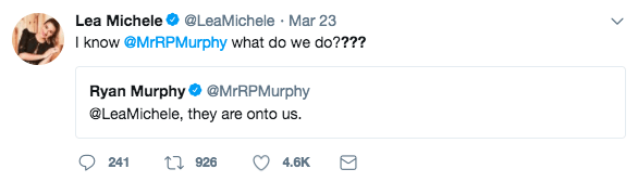 And so did Ryan Murphy...kinda.