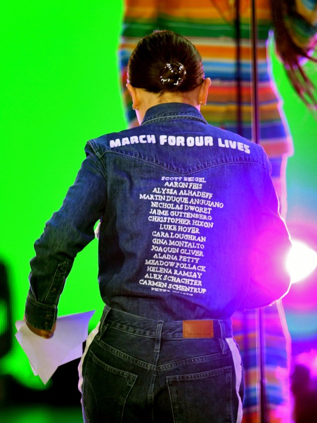 ...but it was her meaningful outfit that had people talking. Millie chose to honor the 17 victims of the Marjory Stoneman Douglas High School shooting on the back of her shirt: