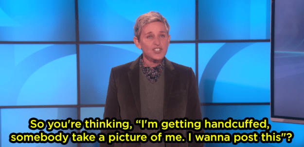 """Ellen was like, """"Why would you post this????"""""""
