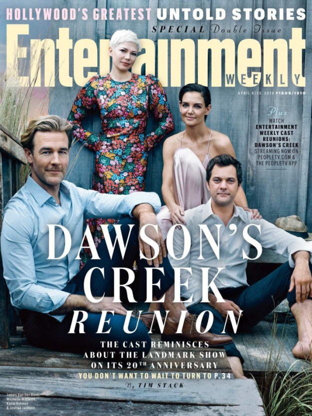 In case you missed it, Entertainment Weekly reunited the cast of Dawson's Creek for its 20-year anniversary and the internet collectively can't stop do-do-do-doo-do-ing: