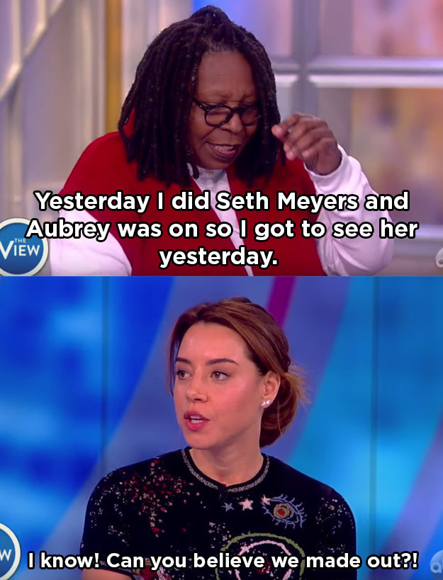 When she had a special way of saying hello to Whoopi: