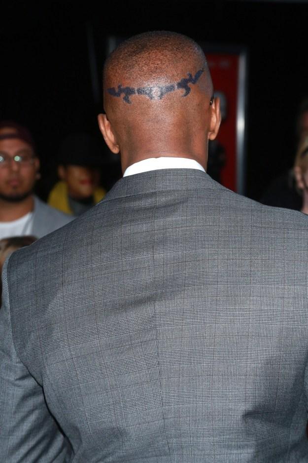 Jamie Foxx's head tat.