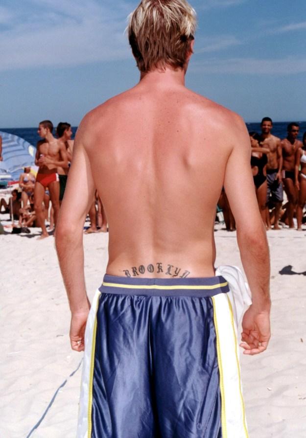 "David Beckham's ""Brooklyn"" tramp stamp."