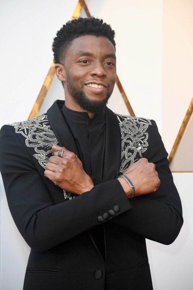 If you thought that the Black Panther hype was finally winding down, you're wrong because King T'Challa, aka Chadick Boseman, was at the Oscars!