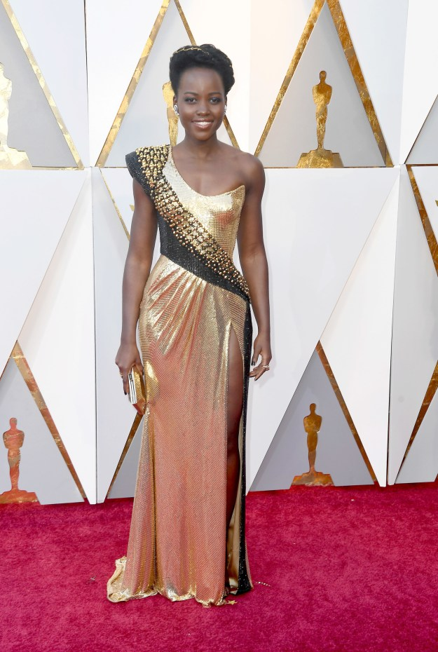 And, so was Lupita Nyong'o, who looked like an actual Oscar, TBH.