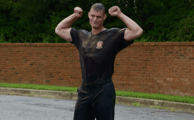 And in the process, they ended up meeting the hottest firefighter in both Covington and the world, who they nicknamed Superman because...well, look at him.
