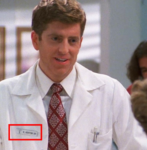 In That '70s Show, one of the doctor's names is K. Ashton, the inverse of Ashton Kutcher's name.