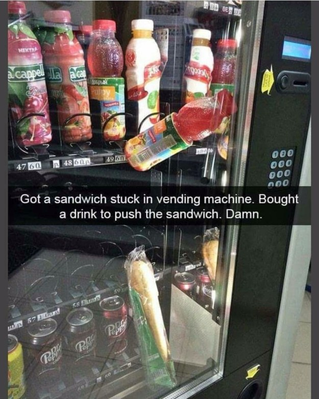 This vending machine customer: