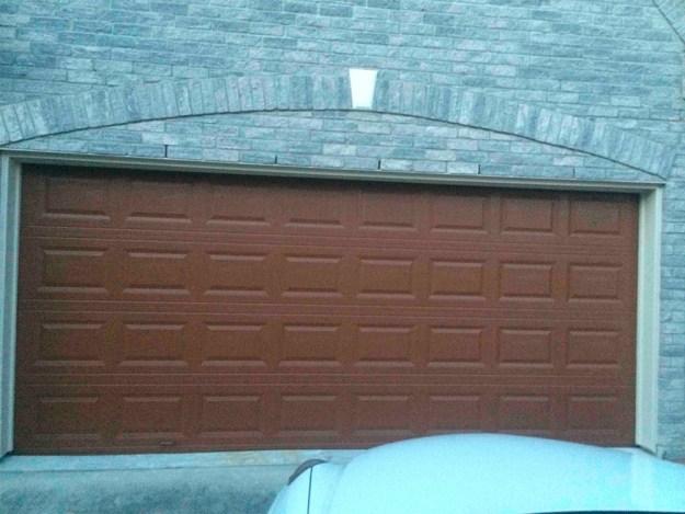 This garage door that looks like a Hershey's milk chocolate bar.