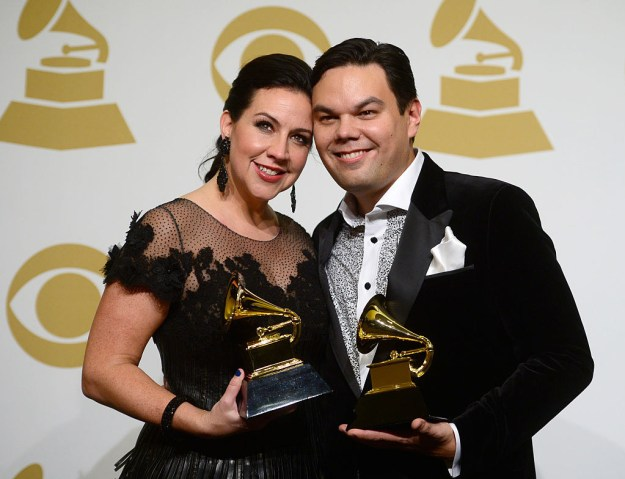 Are you still with me? Because here's where it gets really exciting: Not only does Lopez have two of each award, he actually has THREE Grammys and THREE Tony Awards!