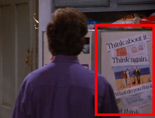 In Seinfeld, this is shown on the fridge when Jerry is trying desperately to remember his girlfriend's name.