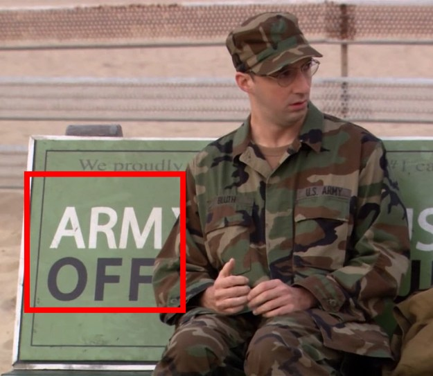 In Arrested Development, Buster's loss of his arm is foreshadowed when he sits on this bus bench.
