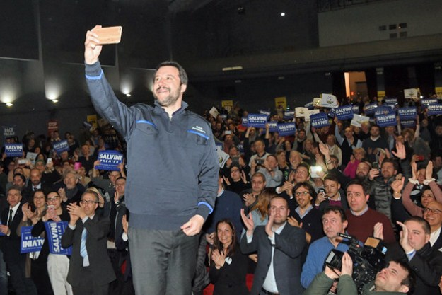 "Running on a campaign slogan of ""Italians first"", Salvini's Lega swept northern parts of Italy in Sunday's election, with fellow populists the Five Star Movement capturing the south."
