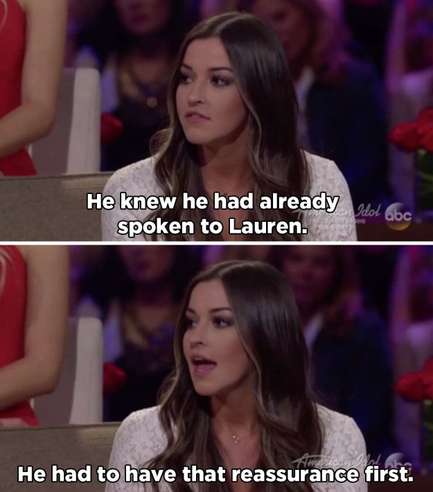 They supported both Becca and Lauren, but didn't pull any punches. Tia called Arie out for basically lying on camera.