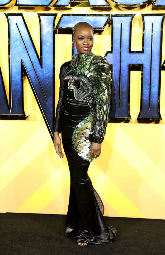 When she rocked this look at the Black Panther premiere: