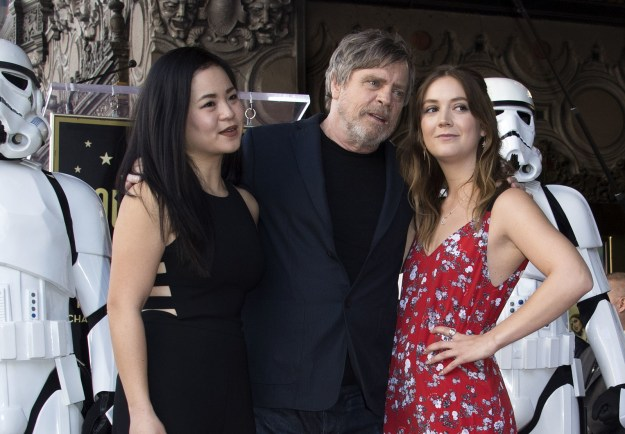And of course, Mark didn't celebrate the honor alone. He was joined by his Star Wars co-stars Marie Tran and Billie Lourd...